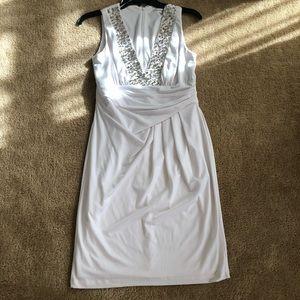 White Calvin Klein Dress w/ Bead detail